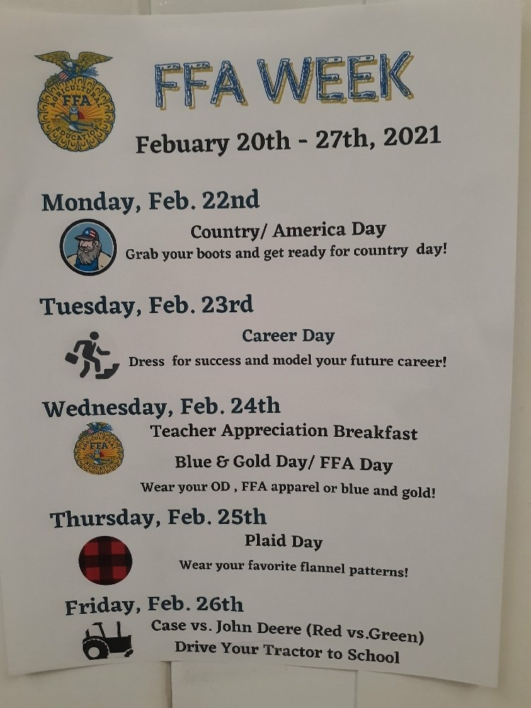 FFA Week Moved--Now Mar. 1-5
